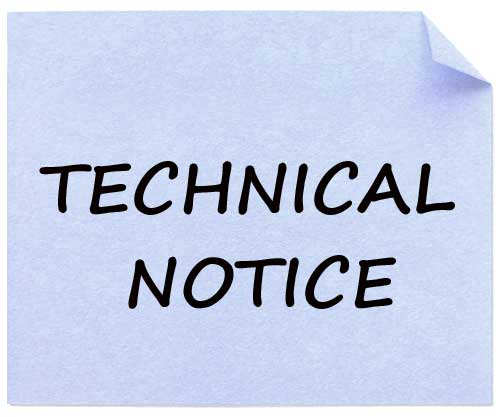 technical notice