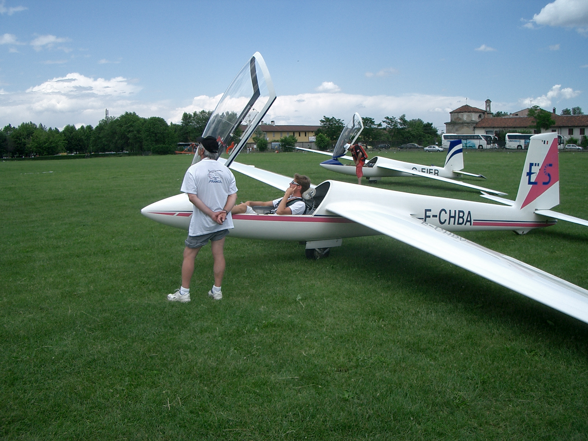 Erik Piriou in his Swift S-1